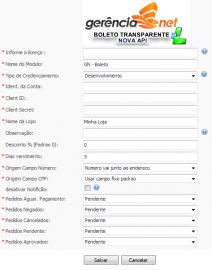 Módulo de Pagamento Gerência NET  - Boleto e Cartão de Credito